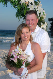 Intimate beach wedding photos