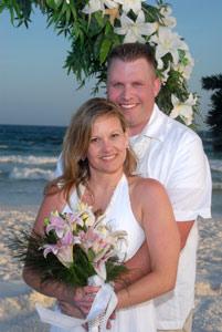 Intimate beach wedding photos
